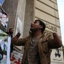 Protesting for El-Husseini Abu Deif